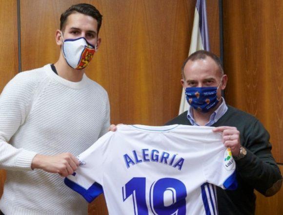 Álex Alegría, presentado como nuevo jugador del Zaragoza