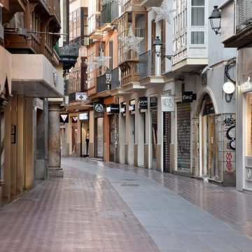 La tercera ola hace descender un 53% la afluencia en las calles comerciales de Palma