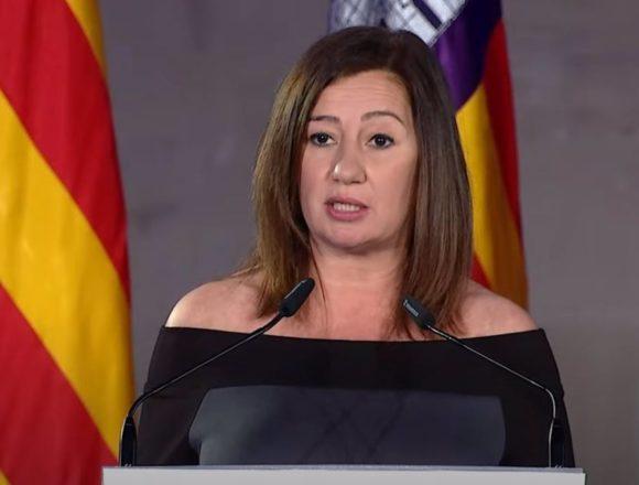 """Armengol apuesta por """"reforzar el estado del bienestar"""" en el año """"más duro"""" por la pandemia"""