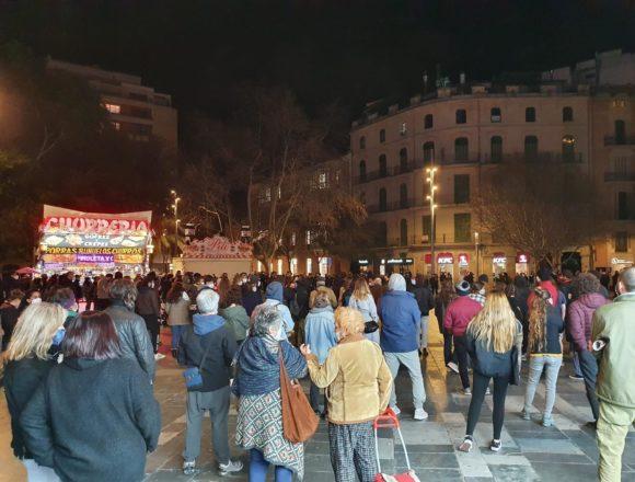 Hasta 200 personas se concentraron en Palma para exigir la libertad de Pablo Hasél