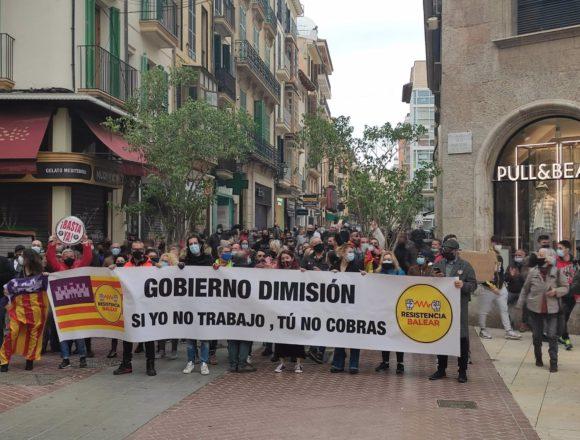 Resistencia Balear reclama en Palma la reapertura total de la restauración