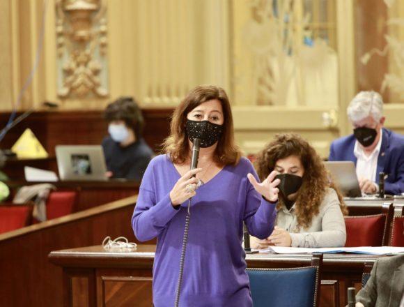 Armengol asegura que la Ley de Cambio Climático estatal permitirá a Baleares avanzar en la descarbonización