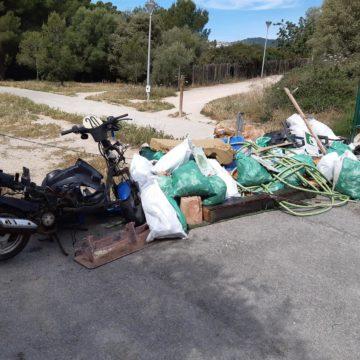 Voluntarios retiran casi media tonelada de residuos del bosque de Son Quint (Palma)