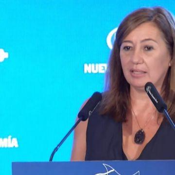 """Armengol asegura que la reactivación económica en Baleares """"es una realidad ya"""""""